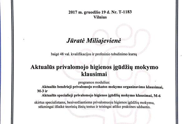 higienos pazymejimas 2017.12.19