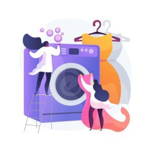 Skalbimą ir sausą (cheminį) valymą atliekantiems darbuotojams