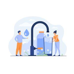 Vandens tiekimo įmonių darbuotojams